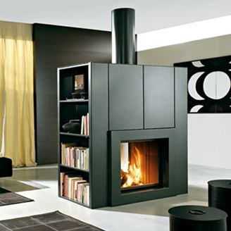 Picture of Home Fireplace with Shelfs